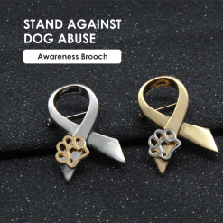 """STAND AGAINST DOG ABUSE"": Animal Abuse Awareness brooch giveaway GlamorousDogs"