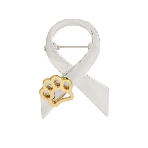 """""""STAND AGAINST DOG ABUSE"""": Animal Abuse Awareness brooch giveaway GlamorousDogs Silver"""
