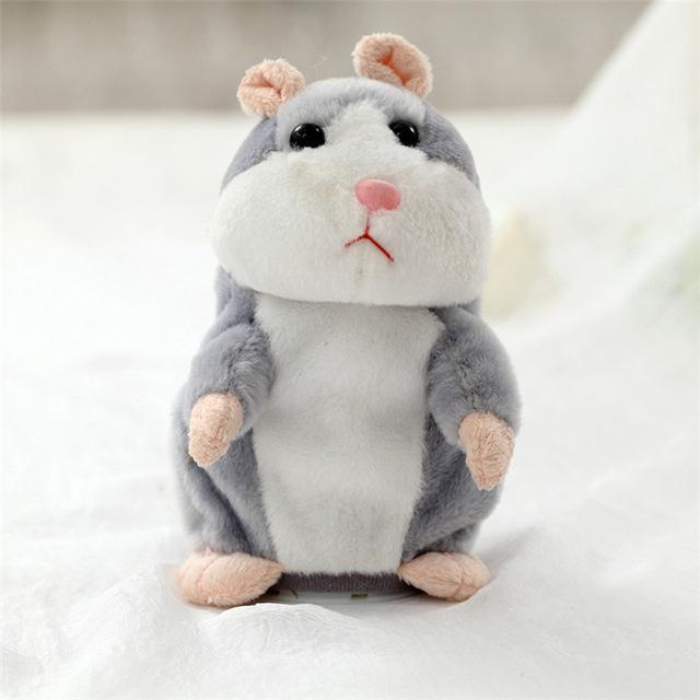 TALKYHAMSTER™: A Hamster With A Parrot Skill Fun Stunning Pets Gray