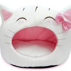 The Cute Cat Bow House Stunning Pets White 50x40cm