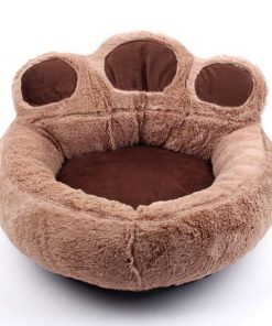 The Pet Paw Shape Bed Stunning Pets Brown Pillow Blanket S 52x56CM