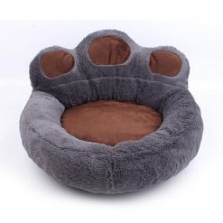 The Pet Paw Shape Bed Stunning Pets Grey Pillow Blanket S 52x56CM