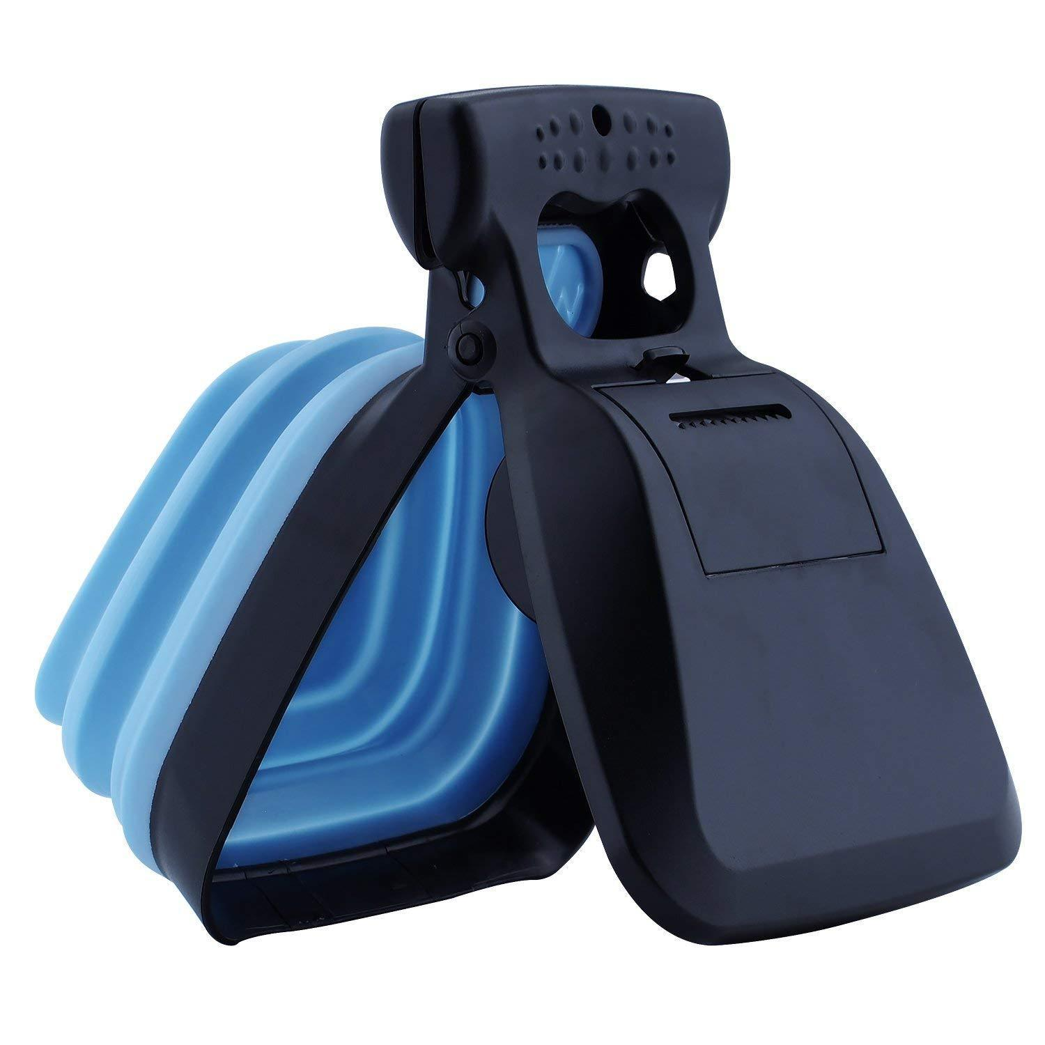 The Poop Scooper with Waste Bag Dispenser Outdoor Scooper GlamorousDogs S Blue