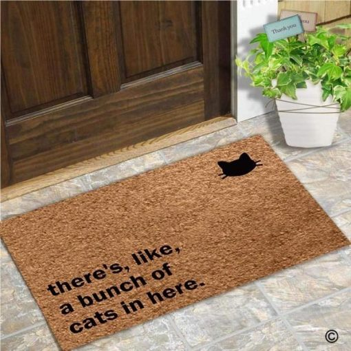 There's Like a Bunch of Cats in Here Doormat   Free Shipping Cat Doormat GlamorousDogs 45x75CM