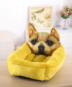 The Soft Cartoon Pet Bed Stunning Pets Yellow One Size