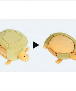 Turtle-shaped Pet Bed Stunning Pets Yellow 23x44x40cm