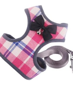 Tuxedo Dog Harness & Leash Classic Harness GlamorousDogs S Pink