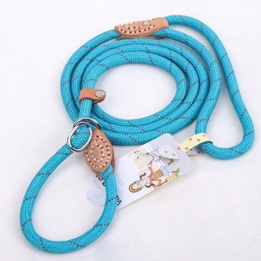 "Upgraded Dog Leash ""For Big Dogs"" Stunning Pets Blue L 1.4x150cm"