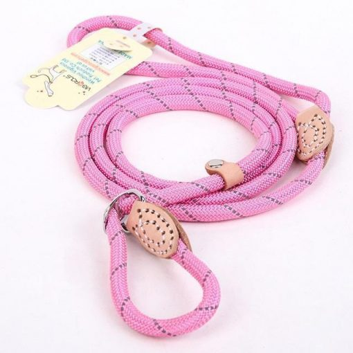 "Upgraded Dog Leash ""For Big Dogs"" Stunning Pets Pink L 1.4x150cm"