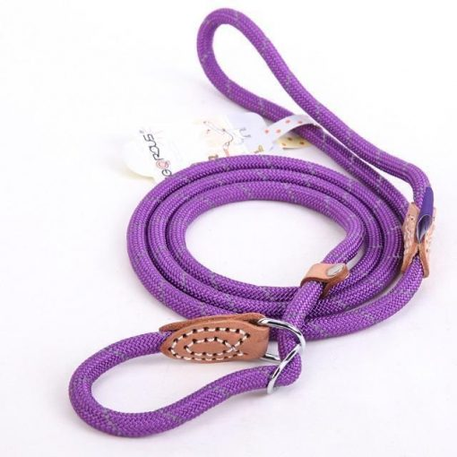 "Upgraded Dog Leash ""For Big Dogs"" Stunning Pets Purple L 1.4x150cm"
