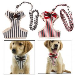 VINTAGE RUFFLE VEST HARNESS WITH BOWTIE OR BELL GlamorousDogs