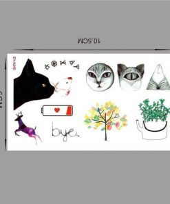 Waterproof temporary Cute tattoos Stunning Pets SYA040