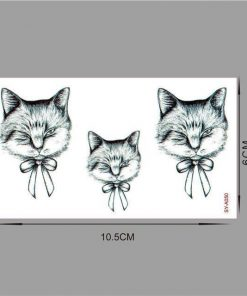 Waterproof temporary Cute tattoos Stunning Pets SYA050
