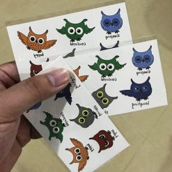 Waterproof Temporary Tattoo lovely cats Sticker Stunning Pets 3 pieces of owl