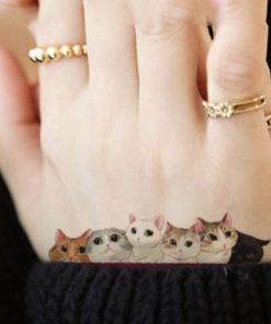 Waterproof Temporary Tattoo lovely cats Sticker Stunning Pets