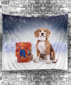 X-mas Dog Tapestry Stunning Pets