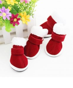 Xmas Santa Claus Boots For Dogs Dog boots GlamorousDogs Red 1