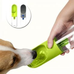XUANRUS: One-hand Dog Portable Water Bottle  Dog Water Travel Bottle Outdoor Feeding & Watering Kit Stunning Pets